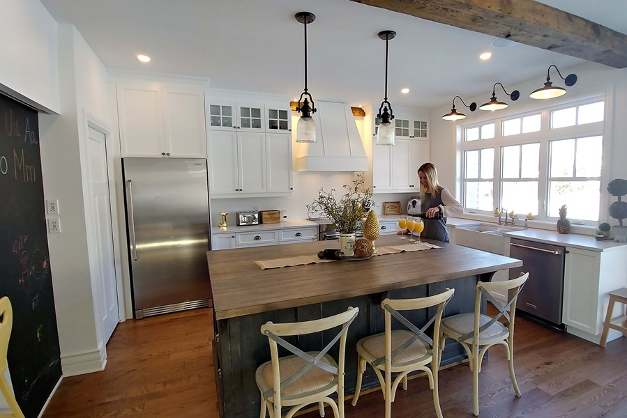 Cuisine chic farmhouse